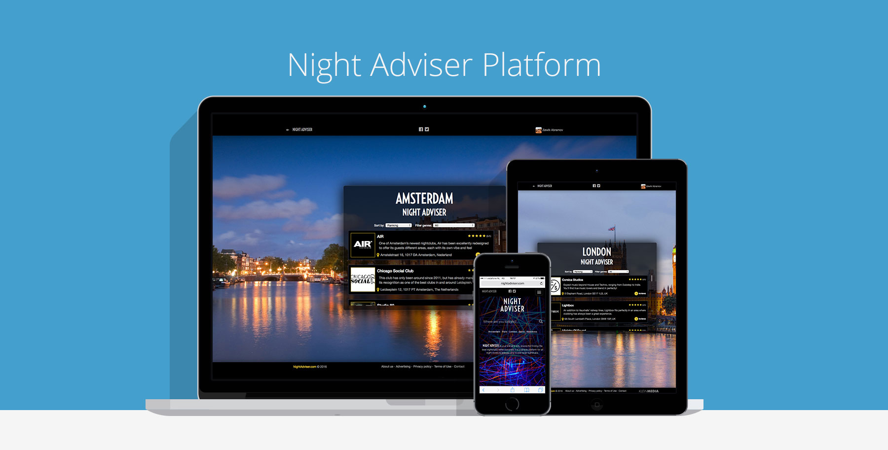 Night Adviser platform custom cms website